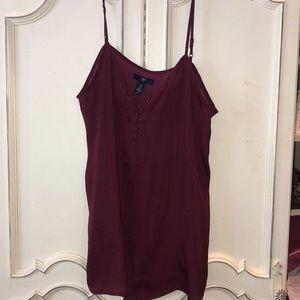 Silky maroon Gap camisole